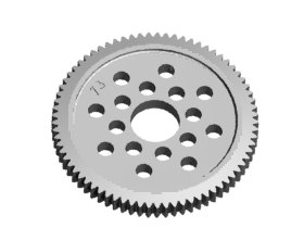 3RACING 48 Pitch Spur Gear 73T - 3RAC-SG4873