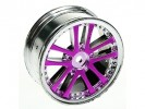 3RACING 1/10 5 Dual Spoke Rim On Road (0 Offset - 24mm) - Purple - WH-02/PU