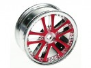 3RACING 1/10 5 Dual Spoke Rim On Road (0 Offset - 24mm) - Red - WH-02/RE