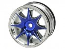 Tamiya FF02 /M03 /M03L /M03M /M04L /M04M 1/10 8 Spoke Wheel On Road (0 Offset - 24mm) - Blue Color - 3Racing WH-04/BU