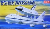 Academy 12708 - 1/288 Space Shuttle with NASA Boeing 747 Carrier Transport