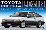 Aoshima AO-009420 - 1/24 No.52 AE86 Toyota Corolla Levin GT-APEX (Late Type w/engine)