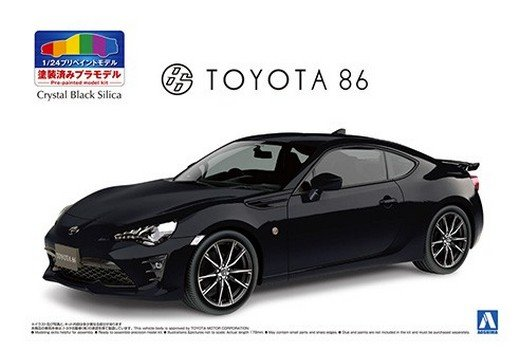Asohima 05648 - 1/24 Toyota ZN6 Toyota 86 2016 (Crystal Black Silica) Pre Painted Model No.SP