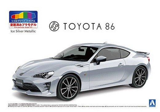 Asohima 05649 - 1/24 Toyota ZN6 Toyota 86 2016 (Ice Silver Metallic) Pre Painted Model No.SP