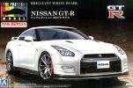 Aoshima AO-01134 - 1/24 Pre Painted No.38 NISSAN GT-R (R35) 2014 Model (Brilliant White Pearl)