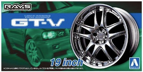 Aoshima 05462 - 1/24 Volk Racing GT-V 19 Inch The Tuned Parts No.71