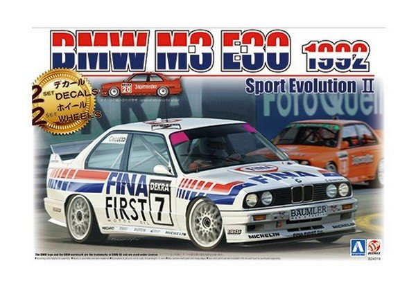 Aoshima 10630 - 1/24 Beemax No.24 BMW M3 E30 1992 Sport Evolution II (2 Set Decals/Wheels)