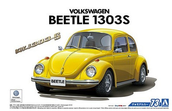 Aoshima 05552 - 1/24 Volkswagen Beetle 1303S 1973 The Model Car No.73
