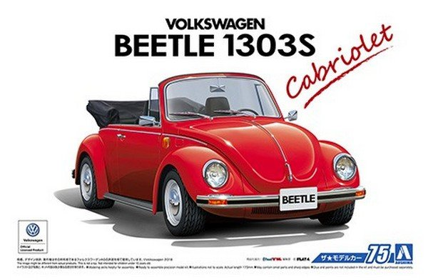 Aoshima 05572 - 1/24 Volkswagen 15ADK Beetle 1303S Cabriolet \'75 The Model Car No.75