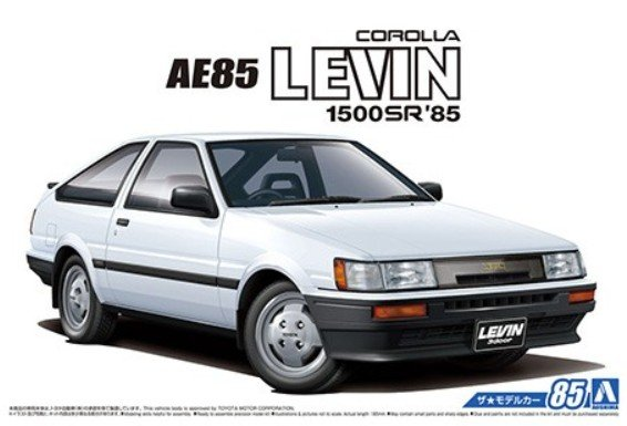 Aoshima 05593 - 1/24 Toyota AE85 Corolla Levin 1500SR 1984 The Model Car No.85