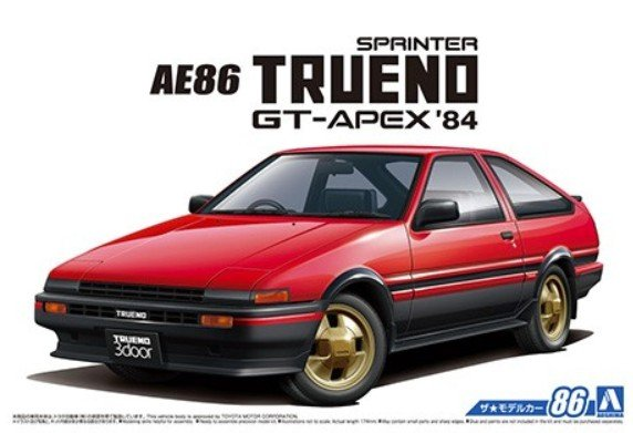Aoshima 05594 - 1/24 Toyota AE86 Sprinter Trueno GT-APEX 1984 The Model Car No.86