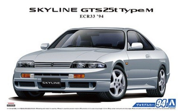 Aoshima 05654 - 1/24 Skyline GTS 25t Type M ECR33 \'94 No.94 The Model Car No.94