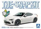 Aoshima 05418 - 1/24 Toyota 86 (Crystal White Pearl) The Snap Kit No.03-A