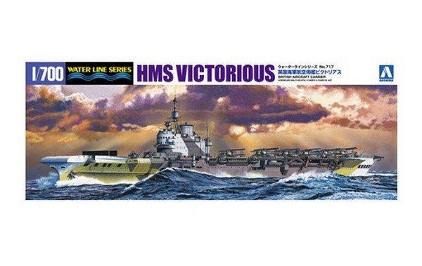 Aoshima 05106 - 1/700 HMS Victorious British Aircraft Carrier No.717