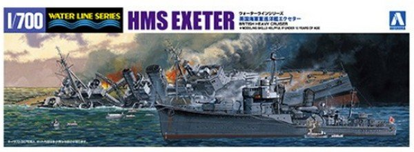 Aoshima 05270 - 1/700 HMS Exeter Battle of the Java Sea