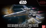 Bandai 223296 - 1/72 Blue Squadron Resistance X-Wing Fighter (The Last Jedi)