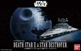 Bandai 230358 - 1/2700000 Death Star II & 1/14500 Star Destroyer