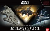 Bandai 219769 - Resistacne Vehicle Set 1/144 & 1/350 Scale (The Last Jedi)