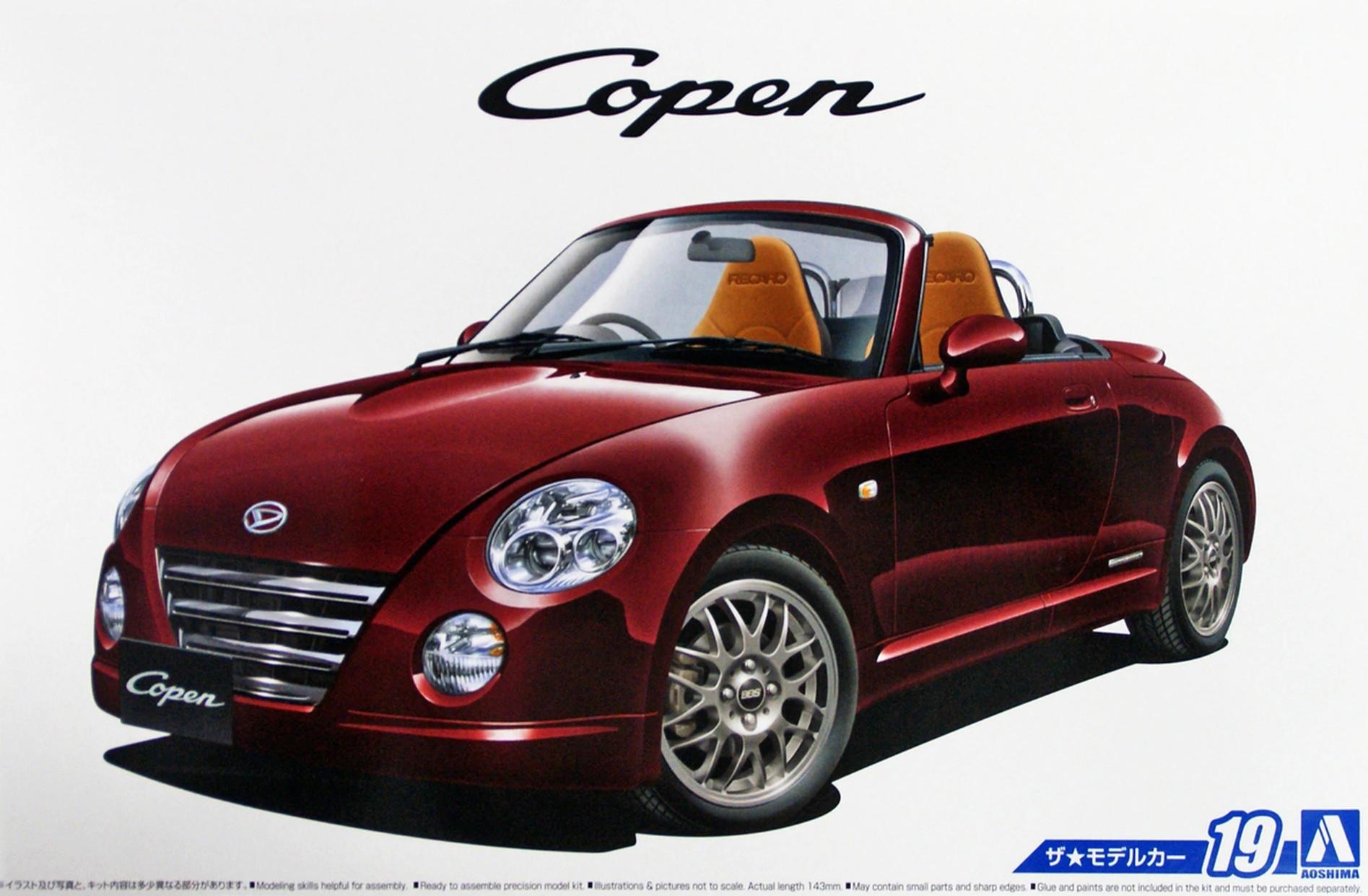 2006 Daihatsu Copen L880K Ultimate Edition 1:24 Model Kit Bausatz Aoshima 052273
