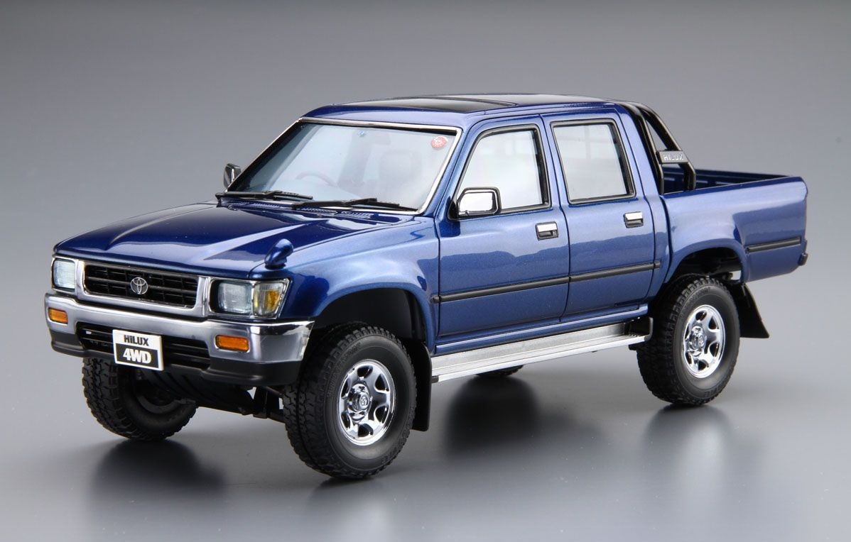 aoshima 1 24 the model car 20 kit toyota hilux 4wd ln107 pick up double cab ebay. Black Bedroom Furniture Sets. Home Design Ideas