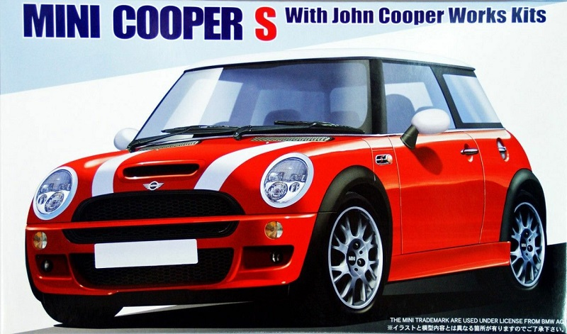 fujimi rs 43 1 24 scale model car kit jcw john cooper. Black Bedroom Furniture Sets. Home Design Ideas