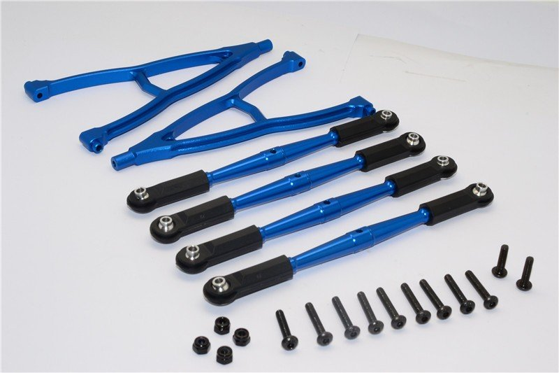 HPI Crawler King Aluminium Front+Rear Y Plate & Link Parts (For 295mm Wheelbase) - 6pcs set - GPM CK15049FR295
