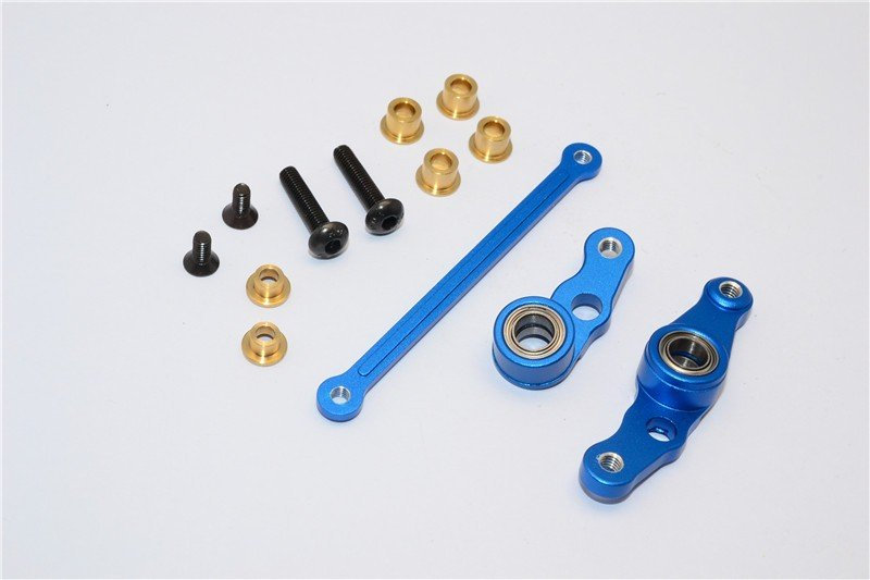 Tamiya M1025 Hummer Aluminium Steering Assembly - 3pcs set - GPM HM1048