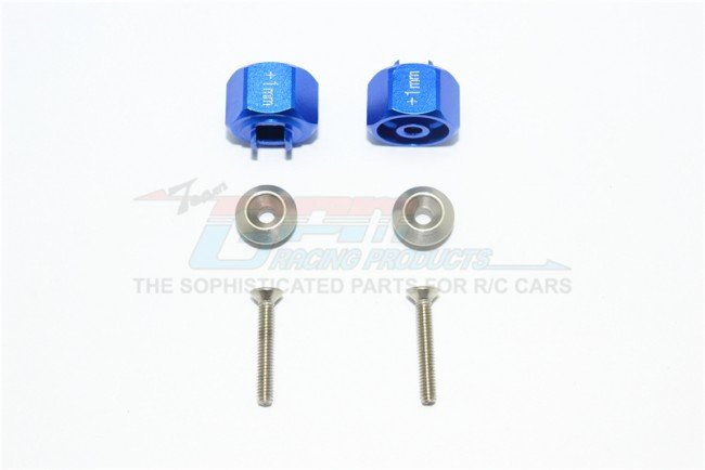TAMIYA T3-01 DANCING RIDER Aluminum Hex Adapter (+1mm) - 6pc set - GPM T3010/+1MM