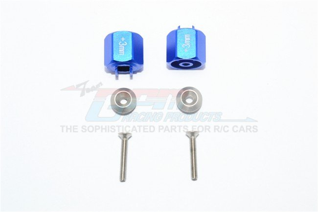 TAMIYA T3-01 DANCING RIDER Aluminum Hex Adapter (+3mm) - 6pc set - GPM T3010/+3MM