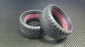 Tamiya TB04 Rubber Radial Onroad Tires 26mm With Tire Insert - 1pr set - GPM TB4889F/R26