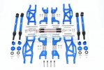 TRAXXAS MAXX MONSTER TRUCK Aluminum F&r Upper+Lower Arms+F&r Adjustable CVD Drive Shaft+Hex Adapter+Wheel Lock+Stainless Steel Adjustable Front Steering Tie Rod(widening Kit) - 88pc set - GPM TXMS100