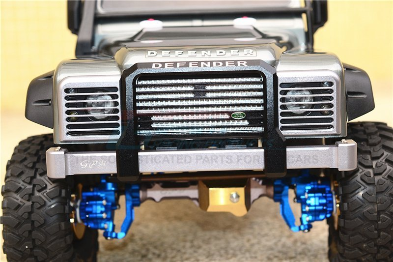 1 Set Black On-Road Street Fighter Traxxas TRX-4 Trail Defender Crawler Aluminum Front /& Rear Bumper With Winch Plate