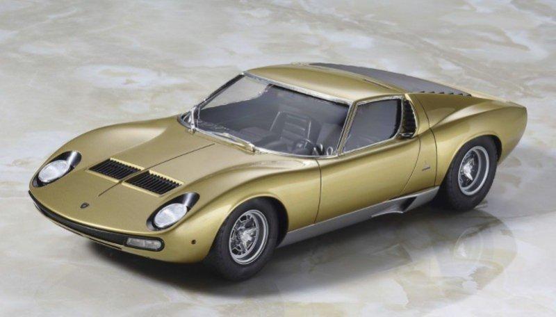Hasegawa 20319 1 24 Lamborghini Miura P400 Sv Chassis No 5030 Gold