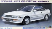 Hasegawa 21136 - 1/24 Toyota Corolla Levin AE92 GT APEX Early Version 1987