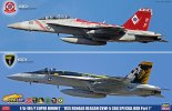Hasegawa SP341 - 1/72 F/A-18E/F Super Hornet USS Ronald Reagan CVW-5 Cag Special Box Part 1 (2pcs Set) 52141