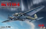 ICM 48262 - 1/48 He 111H-6, Wwii German Bomber