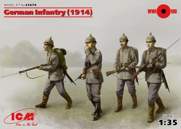 ICM 35679 - 1/35 German Infantry (1914), (4 figures)