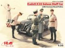 ICM 35480 - 1/35 Kadett K38 Saloon Staff Car With German Road Police