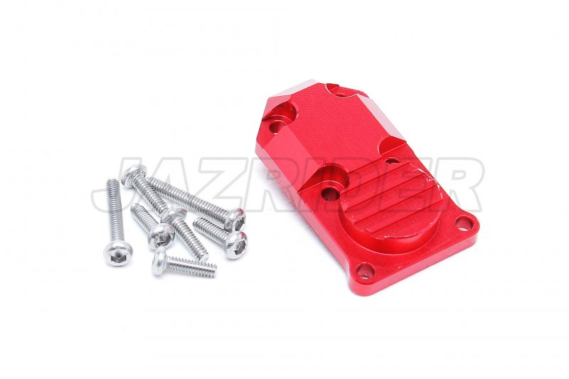 Axial Racing SCX24 Aluminum Front/Rear Gear Box Cover (Red)