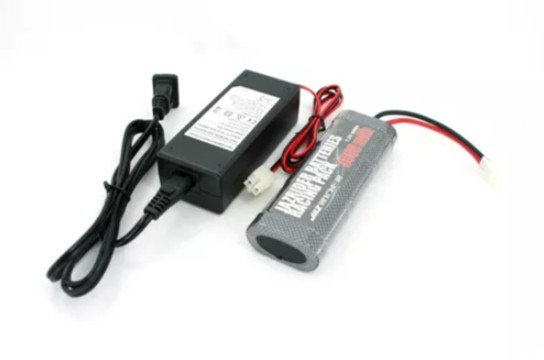 Intellect 7.2V 5000mAh NiMH Battery with Jazrider NiMH 7.2V Battery Charger