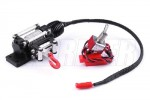Aluminum Automatic Crawler Winch with steel wire for 1/10 Rock Crawler - Black