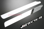 Align T-rex TRex 500 parts 3D 430mm Carbon Fiber Main Blade (Silver with White) - Jazrider Brand [JR-HAG-TX500-002]
