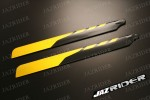 Align T-rex TRex 500 parts - Glass Fiber Main Blade 425mm (Yellow with Black) - Jazrider Brand [JR-HAG-TX500-013]