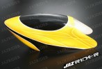 Glass Fibre Canopy (Yellow w/ Black Stripe) For Align T-rex TRex 500 parts - Jazrider Brand [JR-HAG-TX500-056]