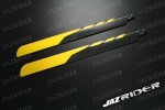 Align T-rex TRex 500 parts 430mm Glass Fiber Main Blade (Yellow with Black) - Jazrider Brand [JR-HAG-TX500-059]