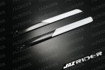 Align T-rex TRex 500 parts 3D 430mm Carbon Fiber Main Blade (Black with White) - Jazrider Brand [JR-HAG-TX500-062]