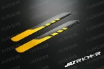 325mm Carbon Fiber Main Rotor Blade (Yellow with Black) Parts For Esky EK1H-E013/14 Belt CP, E015 Belt CP (Carbon), Align 450 450X / XL SE SE V2 HDE, Walkera 39# Helicopter - Jazrider Brand [JR-HBL-00016]