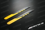 325mm Carbon Fiber Main Rotor Blade (Yellow with Black) (Round Corner) Parts For Esky EK1H-E013/14 Belt CP, E015 Belt CP (Carbon), Align 450 450X / XL SE SE V2 HDE, Walkera 39# Helicopter - Jazrider Brand [JR-HBL-00017]