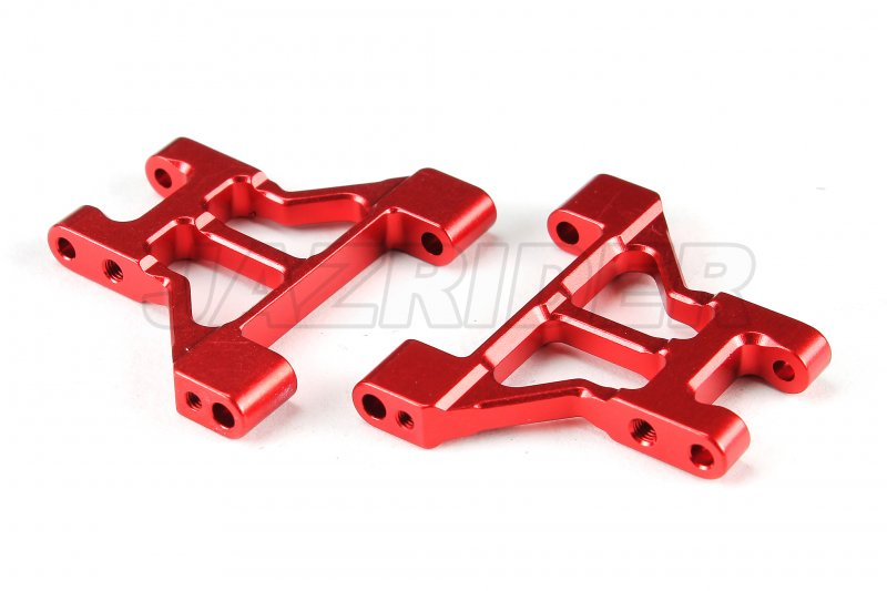 Red Jazrider Aluminum Rear Suspension Arm Set For Tamiya RC M-07 Chassis Car