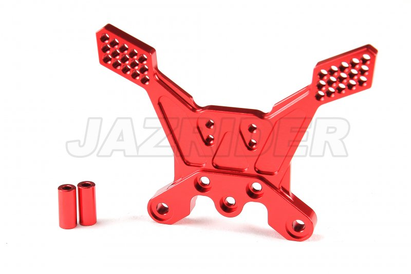 Tamiya TT-02B Aluminum Rear Damper Stay (Red)